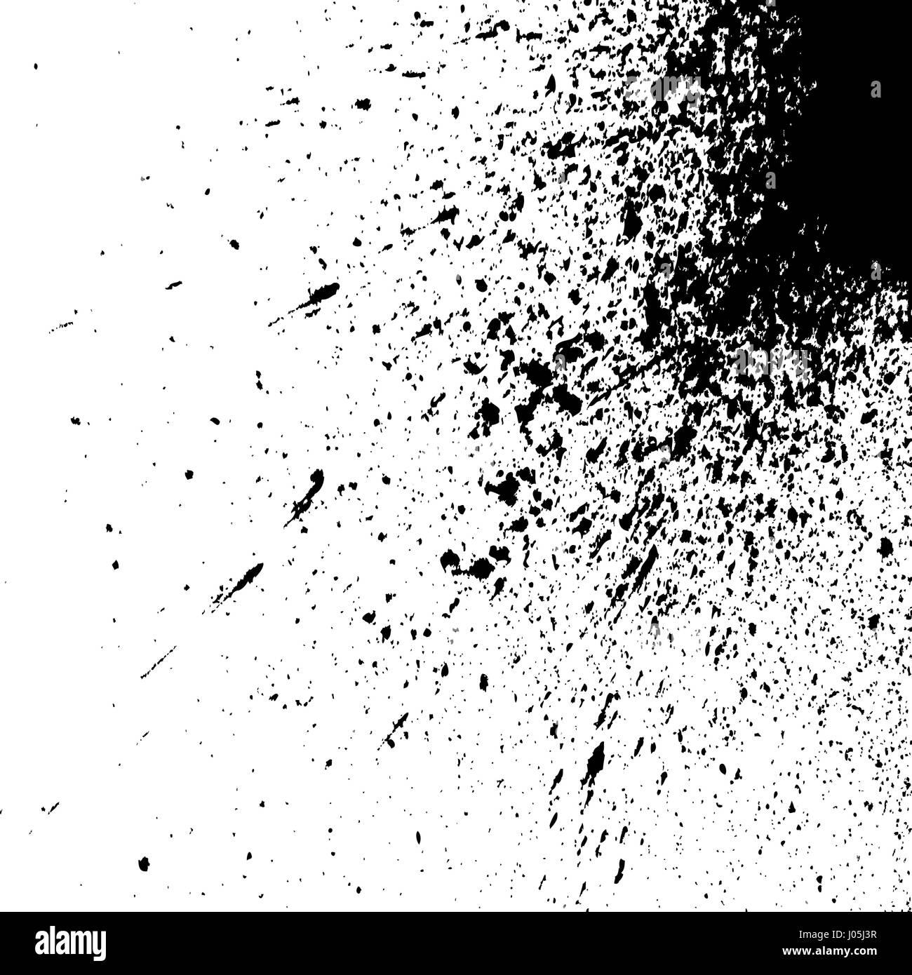 peinture acrylique explosion noir splatter quelques petites gouttes taches isol sur fond. Black Bedroom Furniture Sets. Home Design Ideas