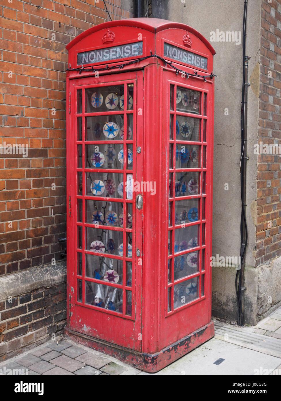 Vieille K6 téléphone rouge fort à Oxford Photo Stock