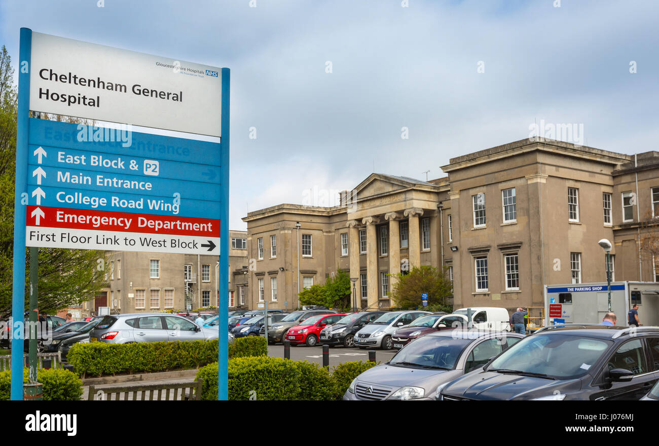 L'Hôpital général de Cheltenham, Cheltenham, UK Photo Stock