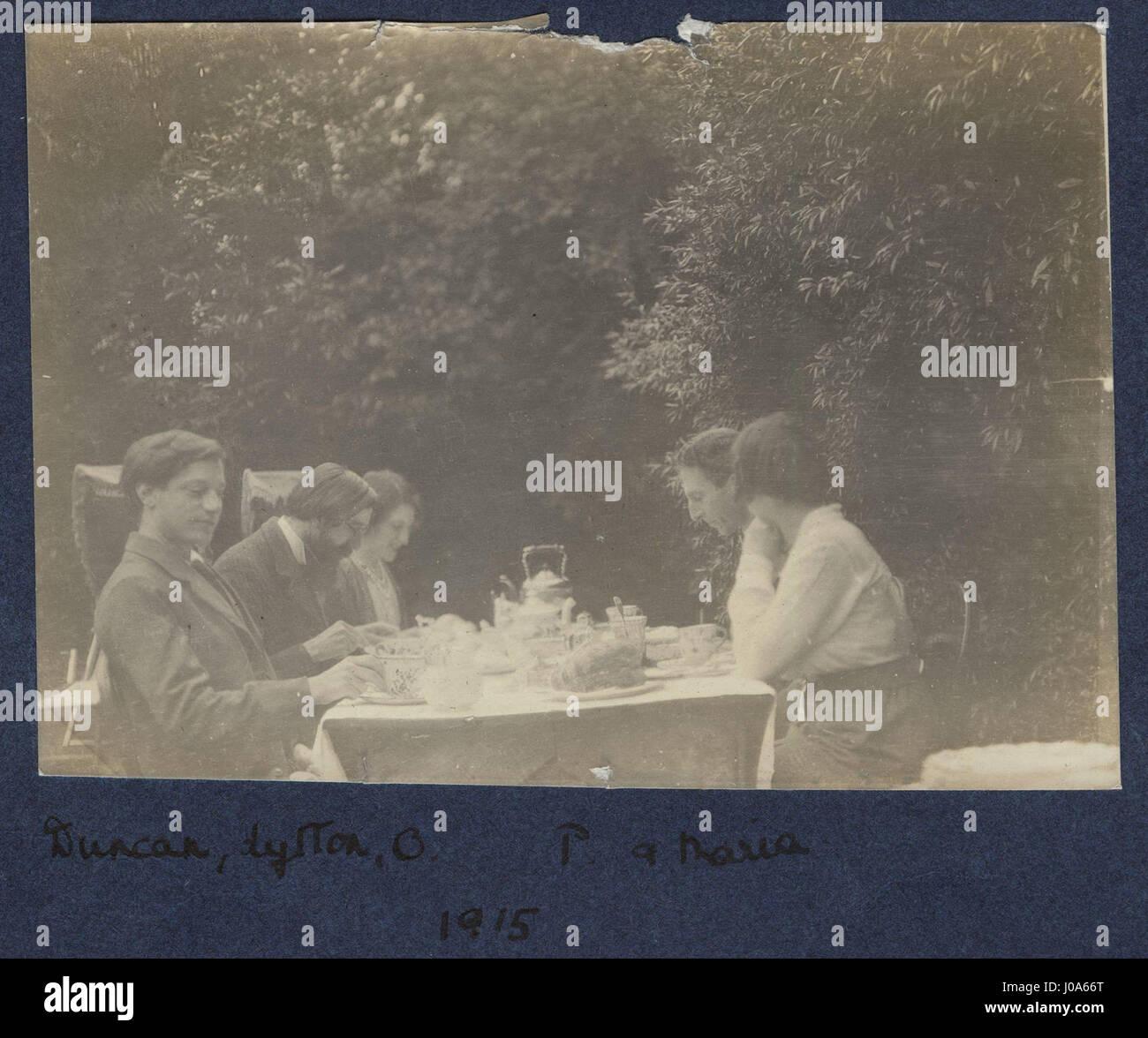 Duncan Grant; (Giles); Lytton Strachey Lady Ottoline Morrell; Philip Edward Morrell; Maria Huxley (née Nys) de NPG Banque D'Images