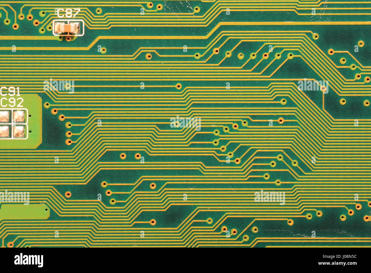 High Tech Computer de circuits imprimés (PCB) montrant Close Up Detail de circuits. Photo Stock