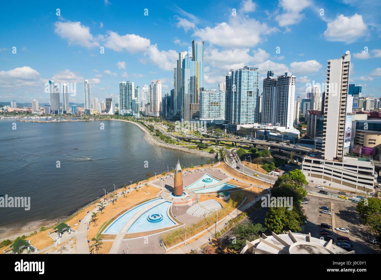L'horizon de la ville de Panama, Panama, Amérique Centrale Photo Stock