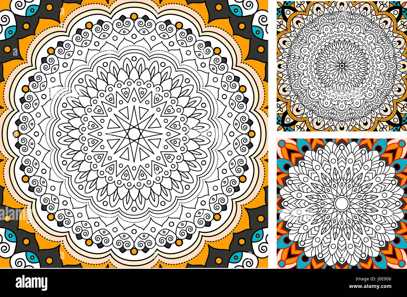 Coloriage Anti Stress Indien.Version Imprimable Page De Coloriage Antistress Pour Les