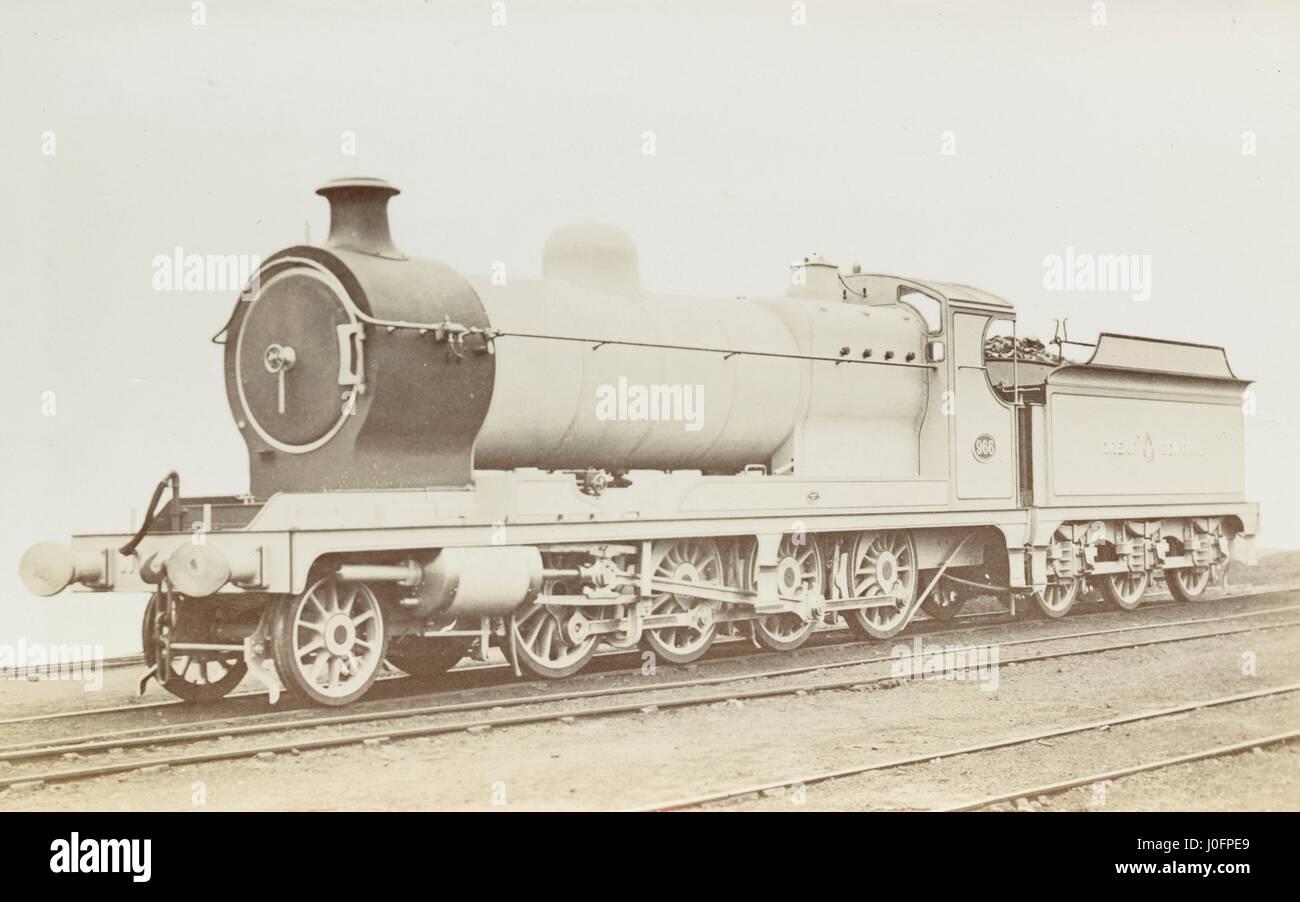 Aucune locomotive 966: 2-8-0 minéral moteur '21x26' [4-8 Arthur Edward chard's annotation, Photo Stock