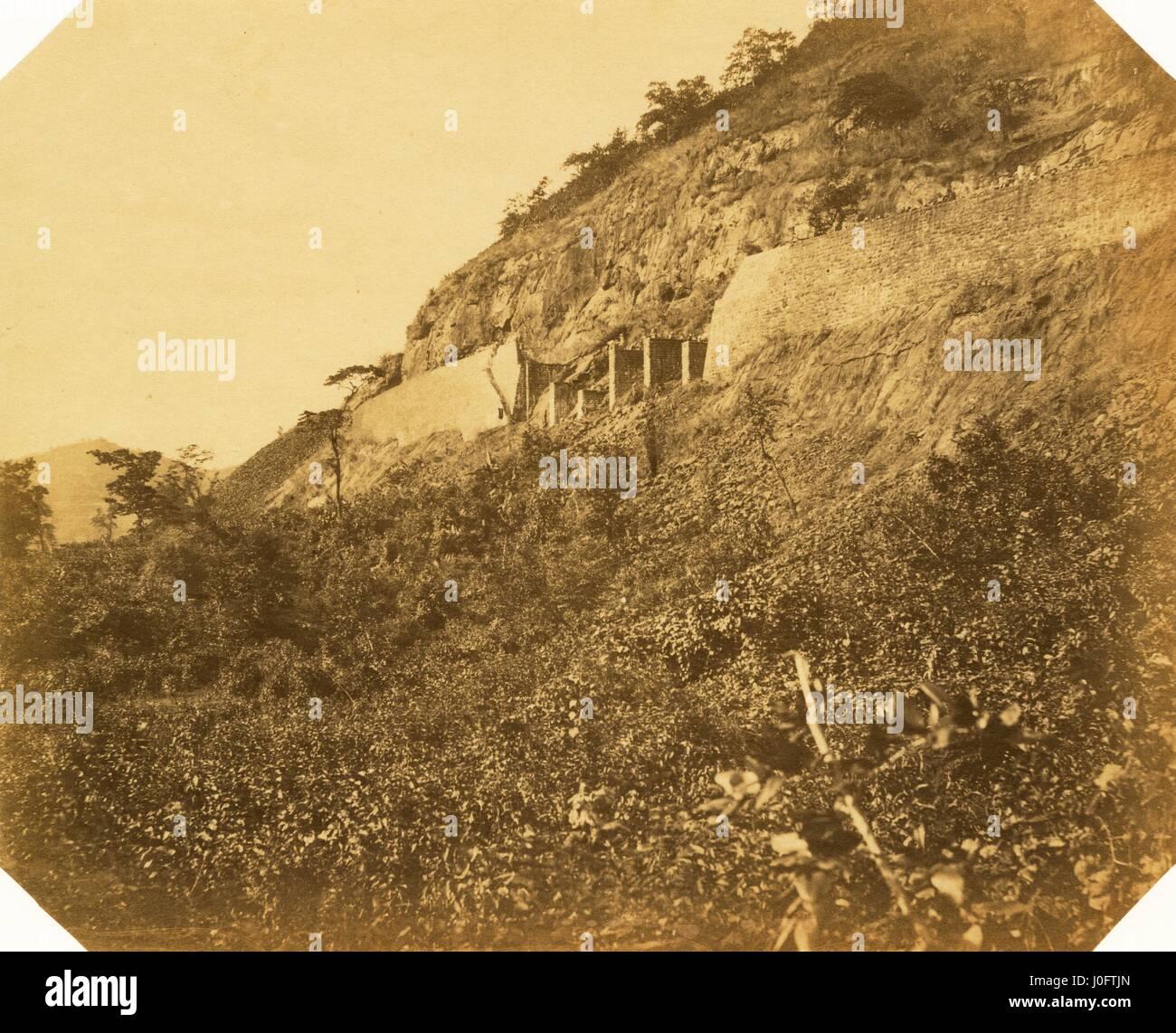 Mur de fer et ecole d'arches; à 9 1/8 miles Banque D'Images