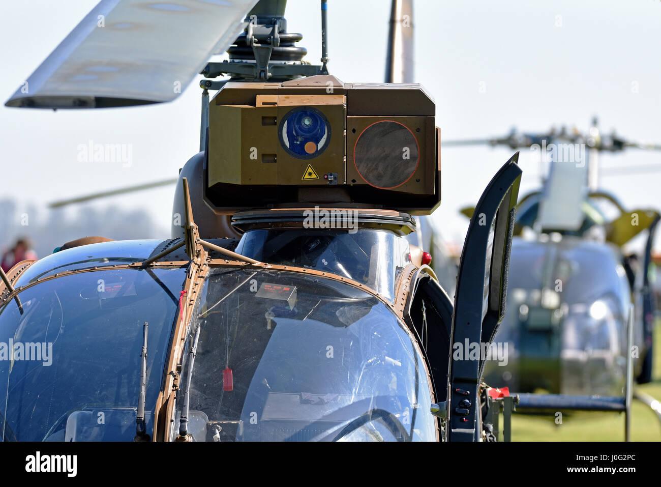 L'armée française de l'hélicoptère Aerospatiale Gazelle SA341 vu ici à la Gazelle Photo Stock