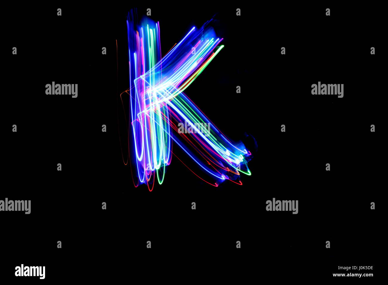 Neon Letter K Banque d'image et photos - Alamy