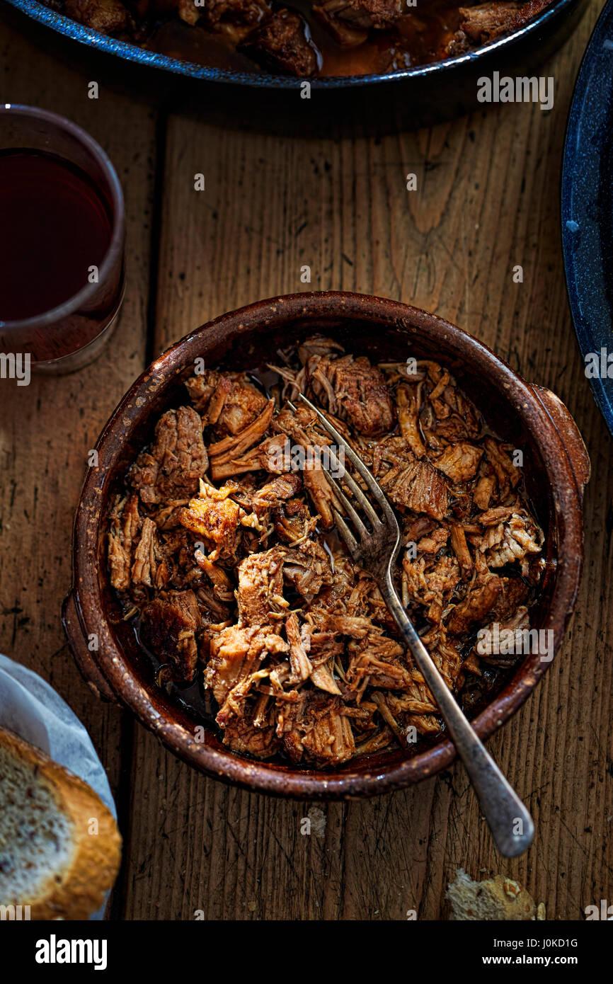 La viande cuite lente Photo Stock