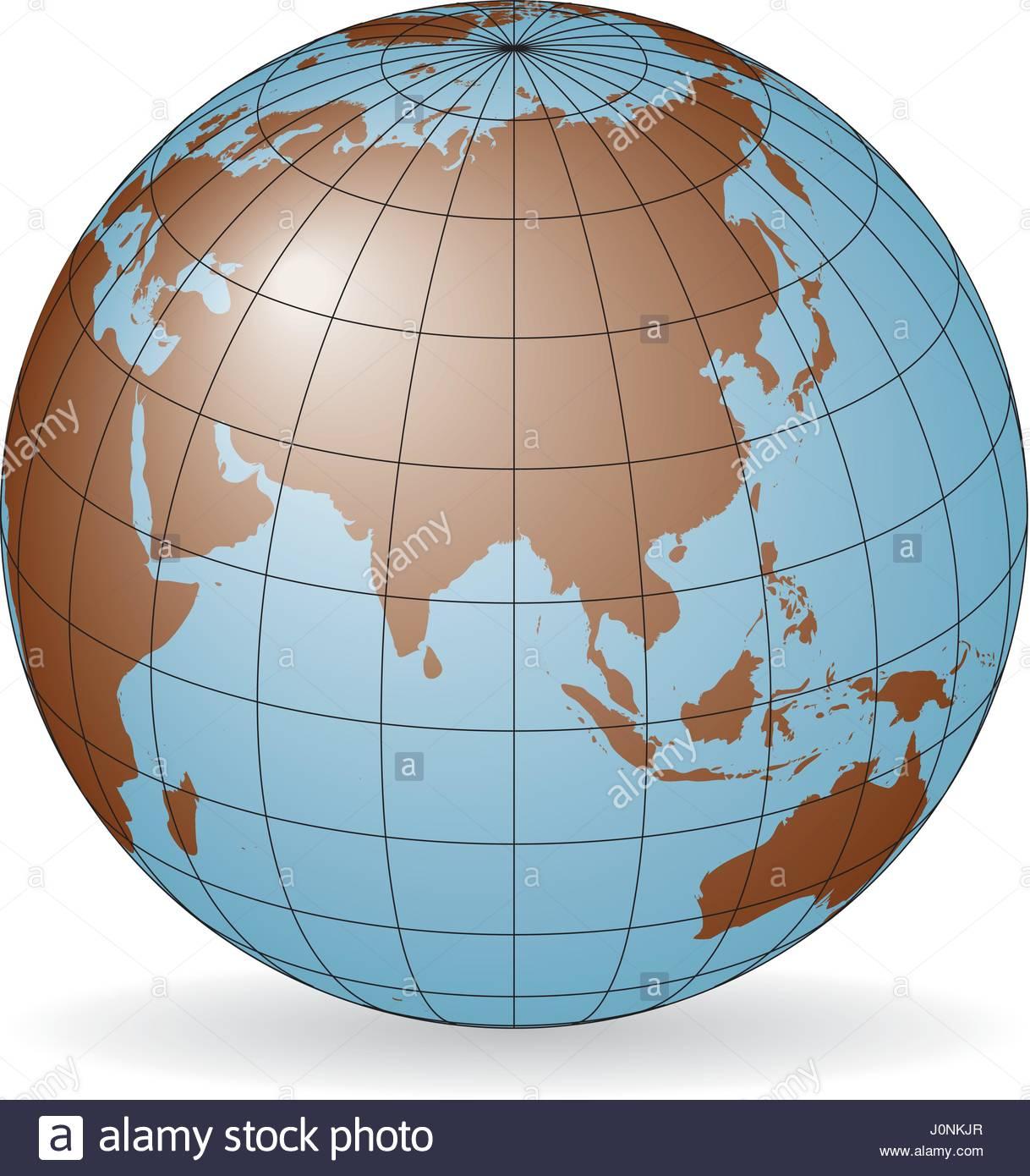 Carte Russie Australie.Carte De L Asie L Australie La Russie L Afrique Pole