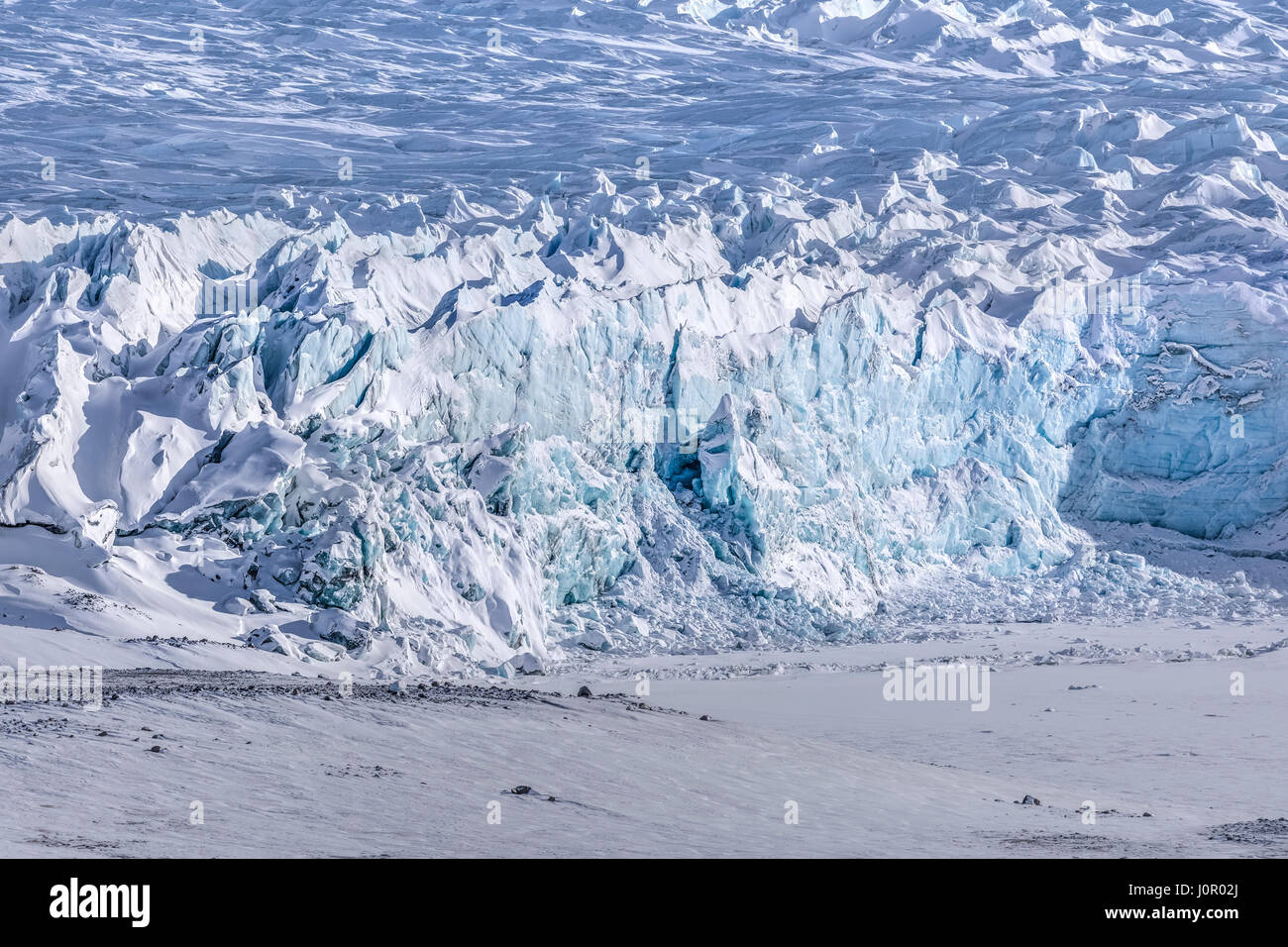 Ice Cap, point 660, Kangerlussuaq, Cercle Arctique, Groenland, de l'Europe Photo Stock