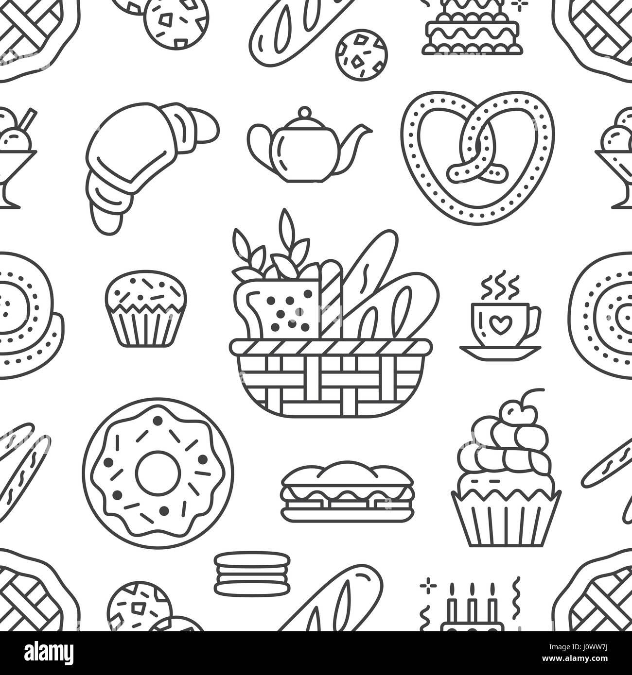 Modèle Sans Couture Boulangerie De Lalimentation Contexte