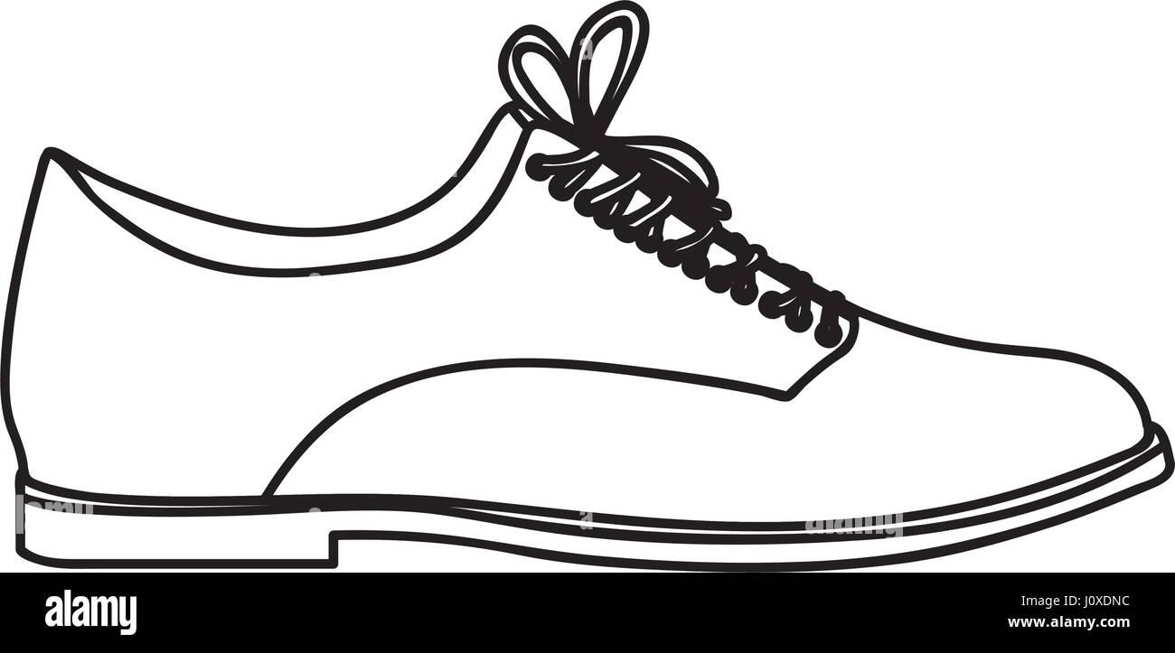 Silhouette monochrome d'hommes avec des lacets de chaussure