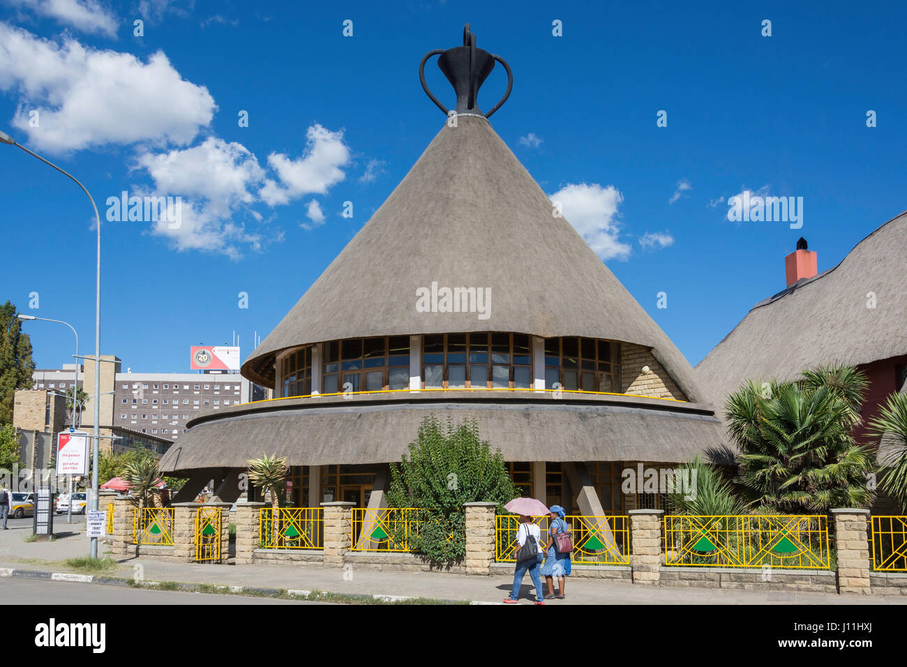Les Basothos Hat Craft Centre, Kingsway, Maseru, District de Maseru, Lesotho Photo Stock