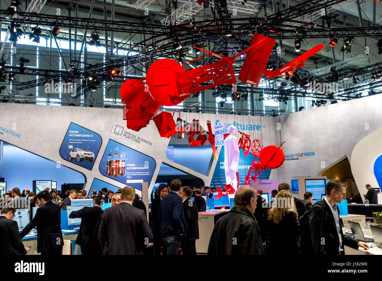CEBIT Hannover 2017, Software AG Photo Stock