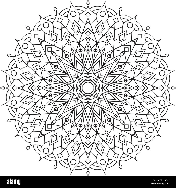 Livre De Coloriage Mandala Circle Lace Ornement Ornementales