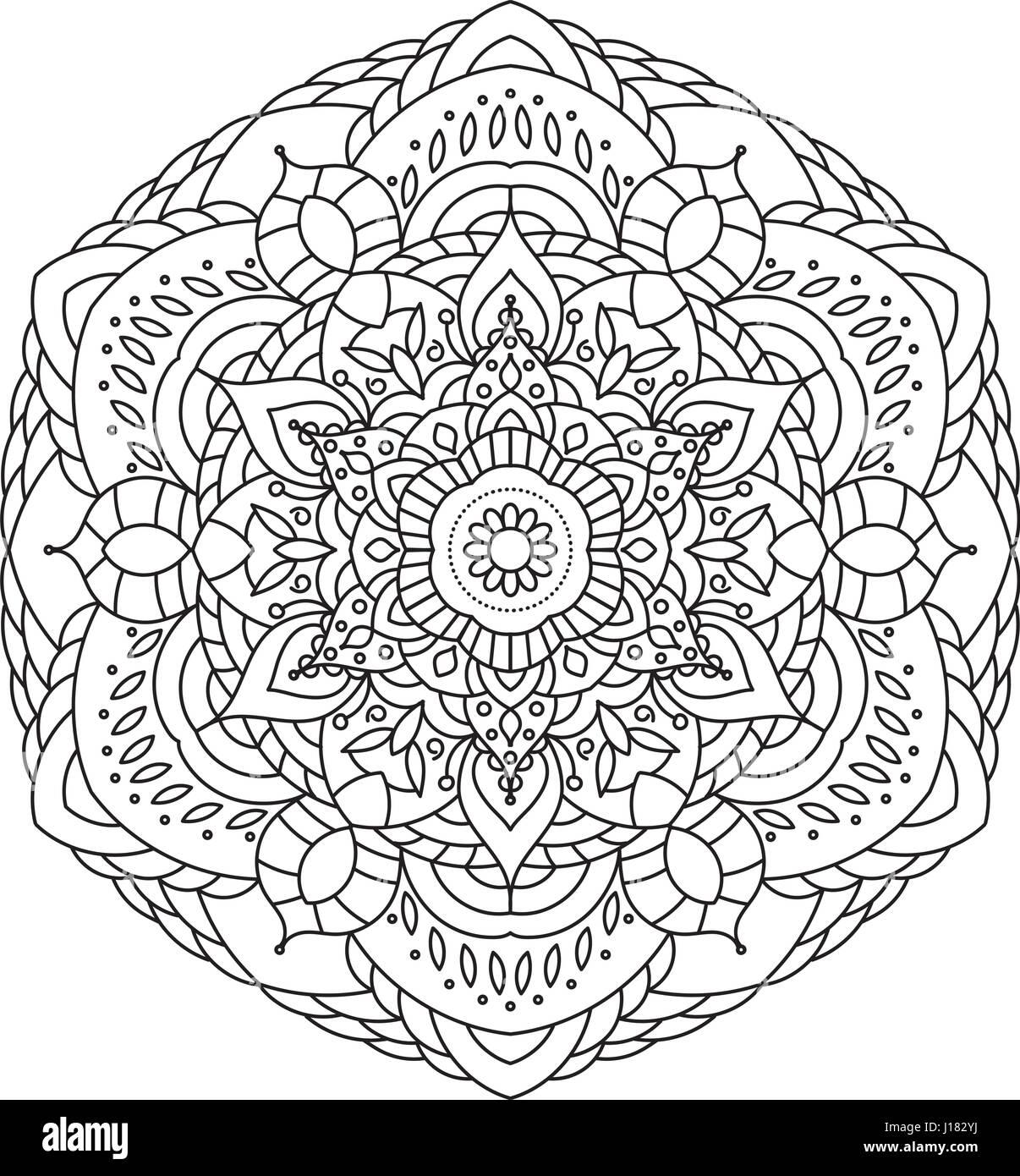 Coloriage Mandala Rond.Livre De Coloriage Mandala Circle Lace Ornement Ornementales