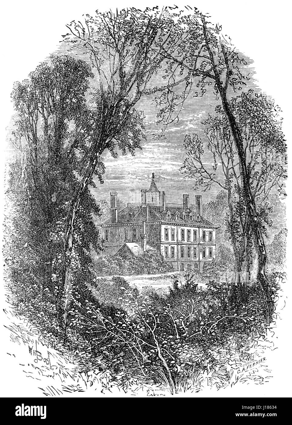 Maison ABNEY, Stoke Newington, Arrondissement de Hackney, Londres, UK Photo Stock