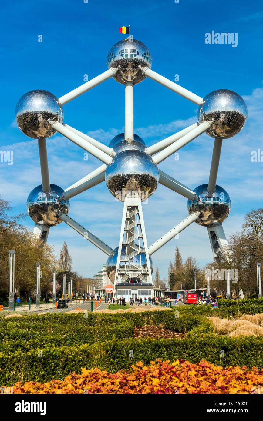 Atomium construite pour l'Expo 58, Bruxelles, Belgique Banque D'Images