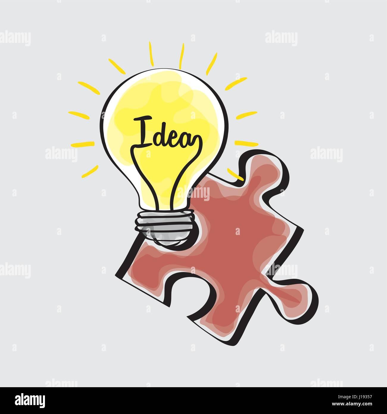 Idée design. sketch icône. Fond blanc , vector Photo Stock