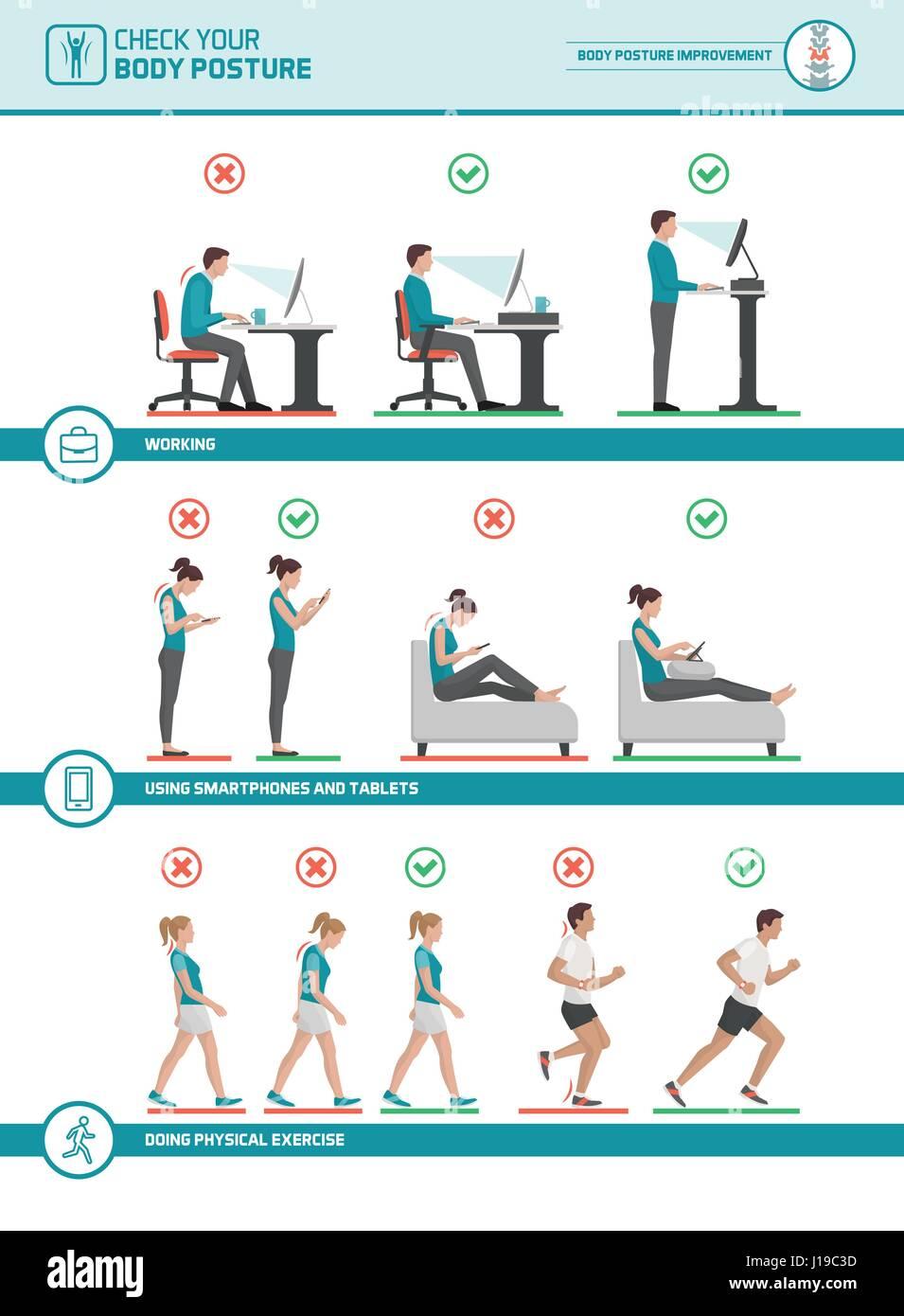 L'ergonomie du corps infographie : améliorer votre posture lorsque on