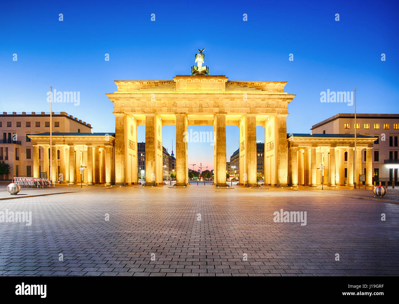 Porte de Brandebourg de Berlin, en allemand Photo Stock