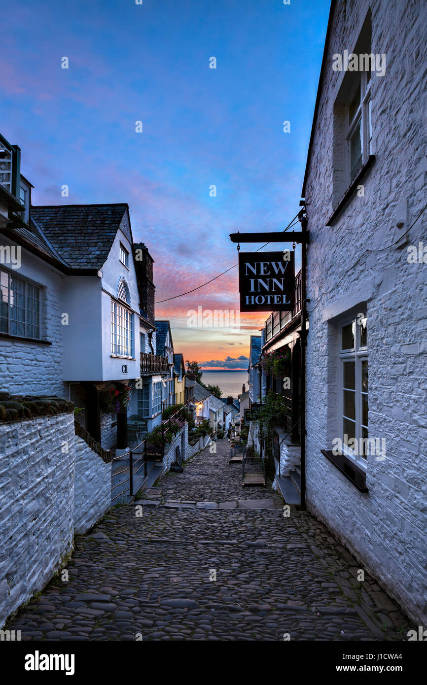 Dans le nord du Devon Clovelly Photo Stock