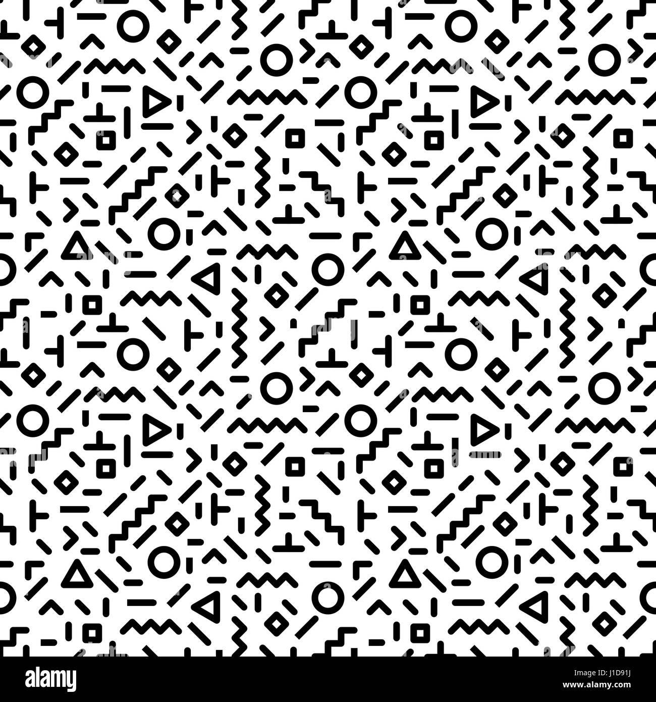 trendy style memphis motif transparent inspir u00e9 par 80s  90s retro design de mode  hipster noir