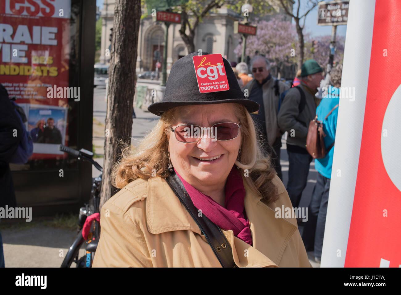 Paris: rassemblement - Tarif des transports pour les retraités Photo Stock