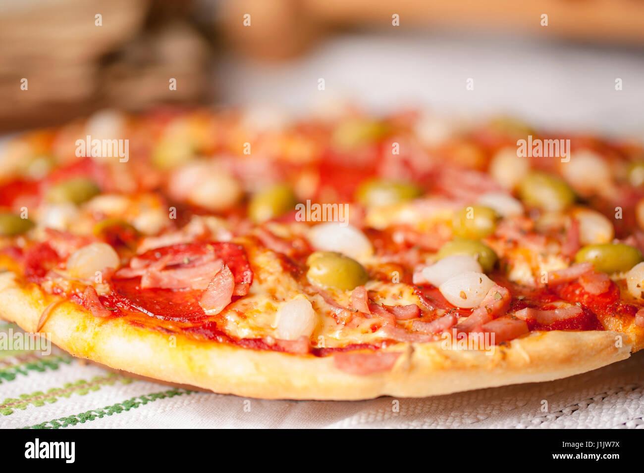 Pizza italienne Banque D'Images