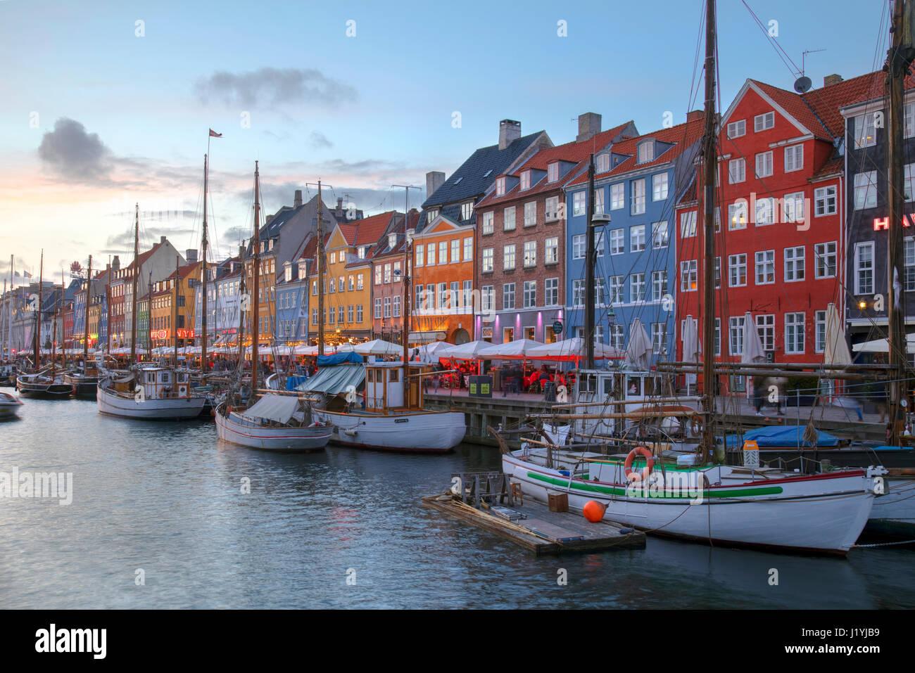 Nyhavn, Copenhague, Danemark, Scandinavie Photo Stock