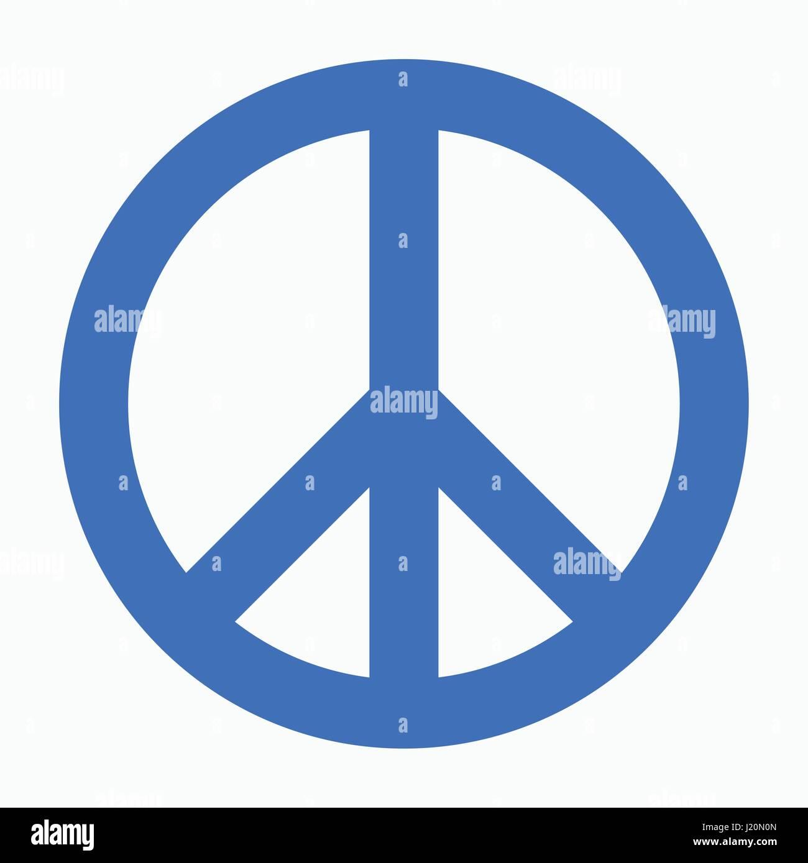 L'icône de la paix télévision vecteur de conception. Photo Stock