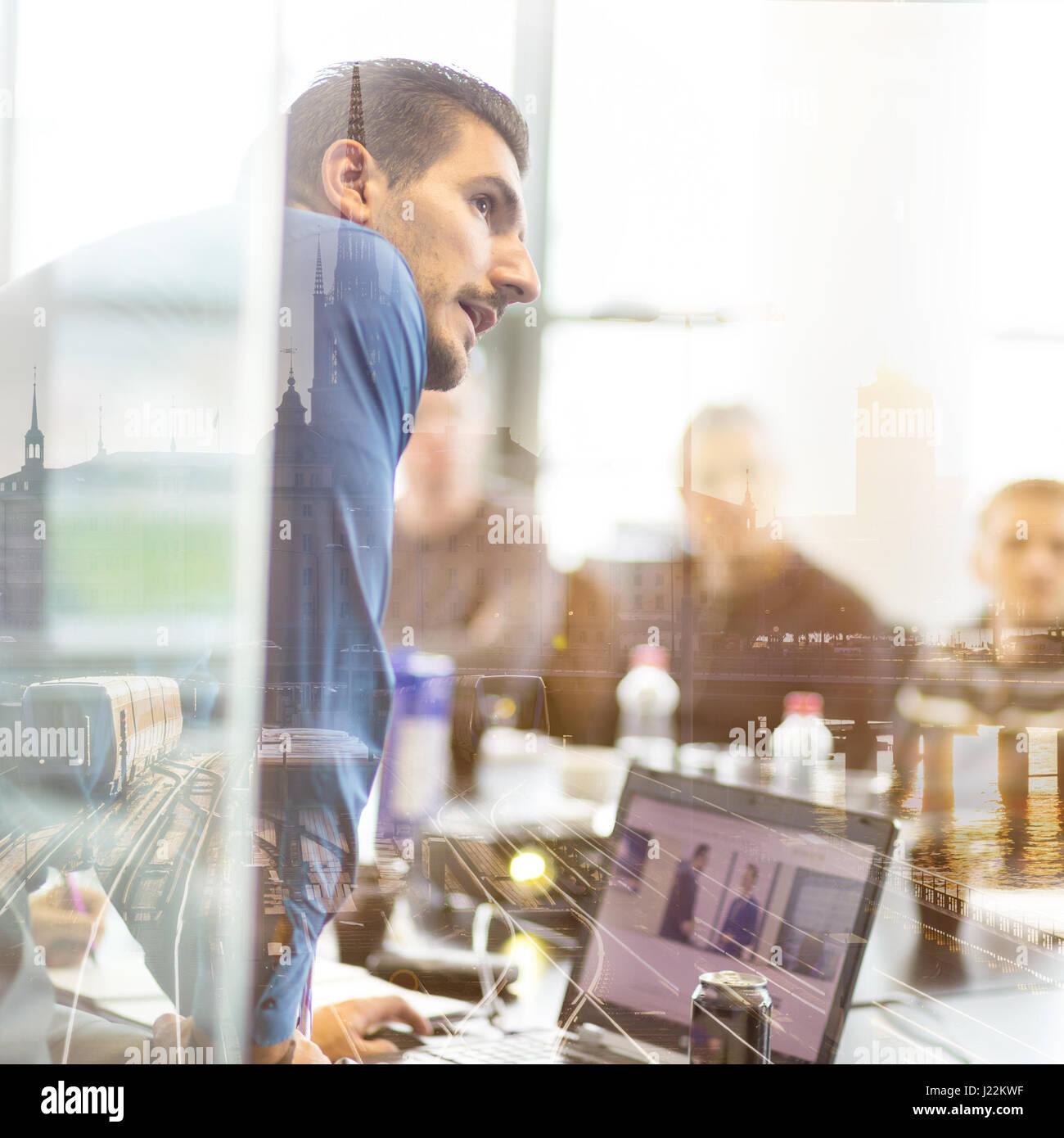 Présentation de l'entreprise sur la réunion. Photo Stock