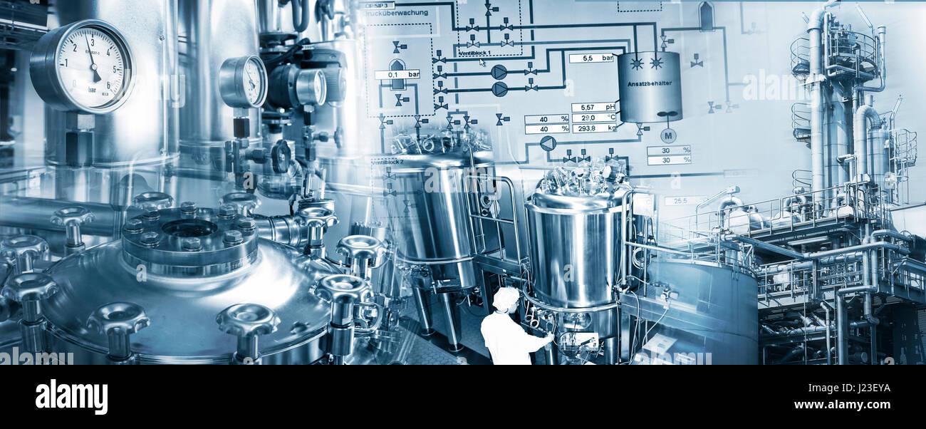 Un équipement de production domesti des industries chimique et pharmaceutique Photo Stock