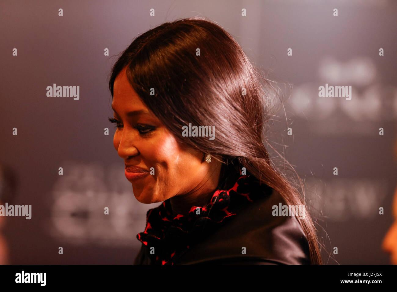 New York, USA. Apr 25, 2017. Naomi Campbell participe à la fois au Gala 2017 100 Jazz at Lincoln Center le Photo Stock