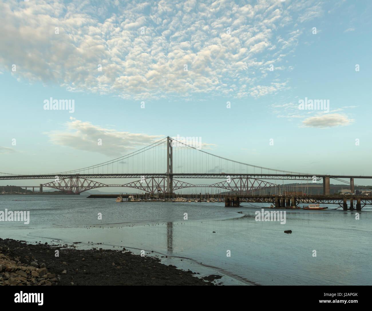 Forth bridges de Port Edgar, Queensferry, Lothian, Ecosse, Royaume-Uni Banque D'Images