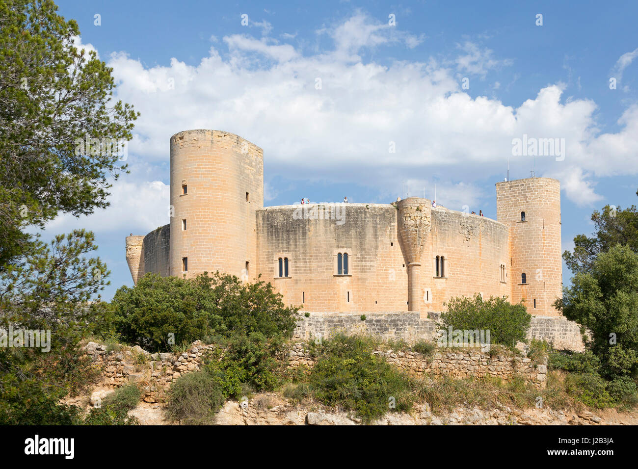 Castell de Bellver à Palma de Majorque, Espagne Photo Stock