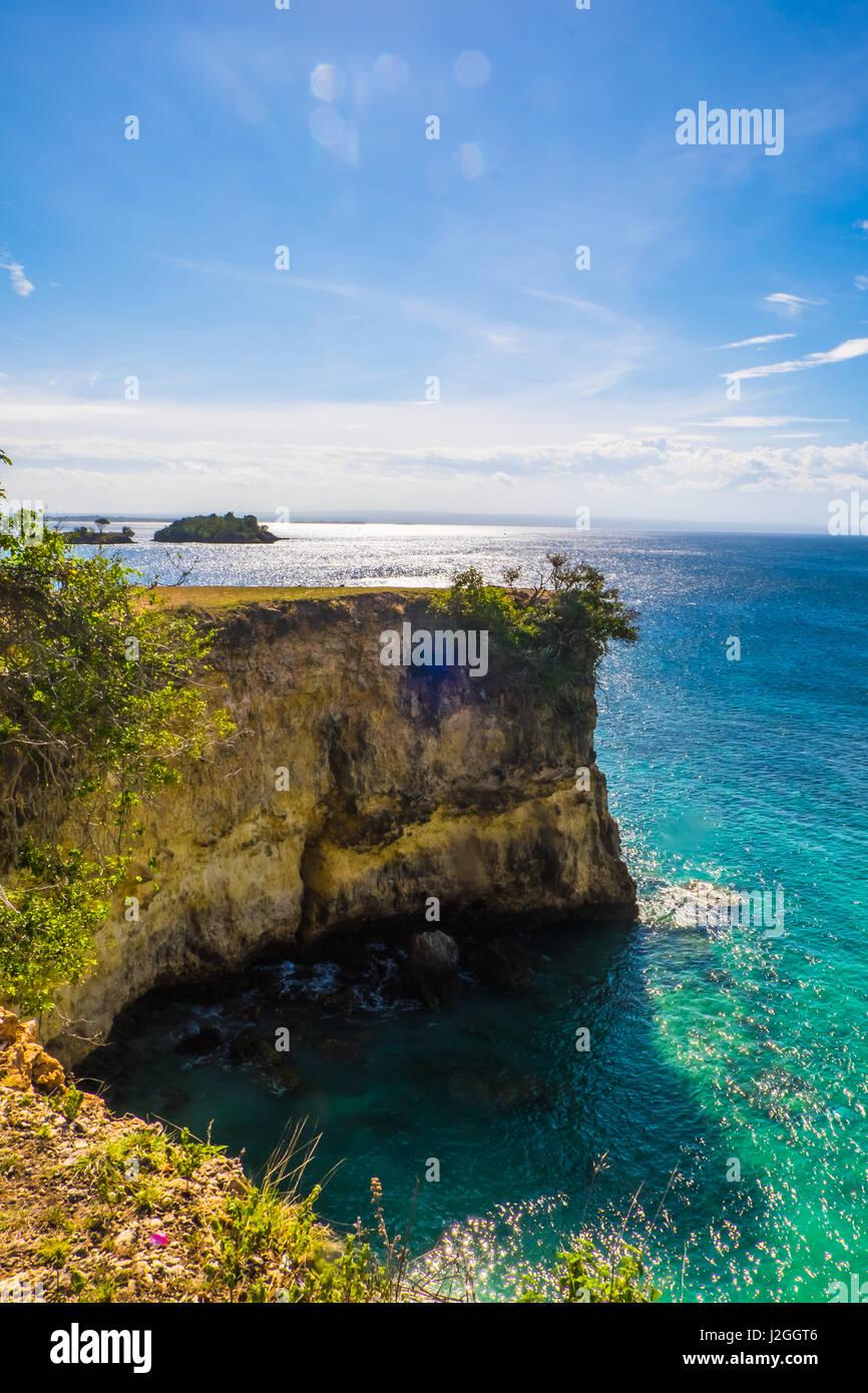 Îles exotiques tropicaux à Lombok en Indonésie. Photo Stock