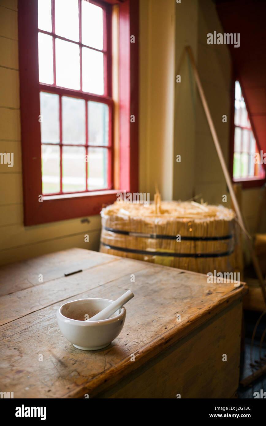 USA, New Hampshire, Enfield Shaker Shaker, Musée de l'intérieur de l'atelier Banque D'Images