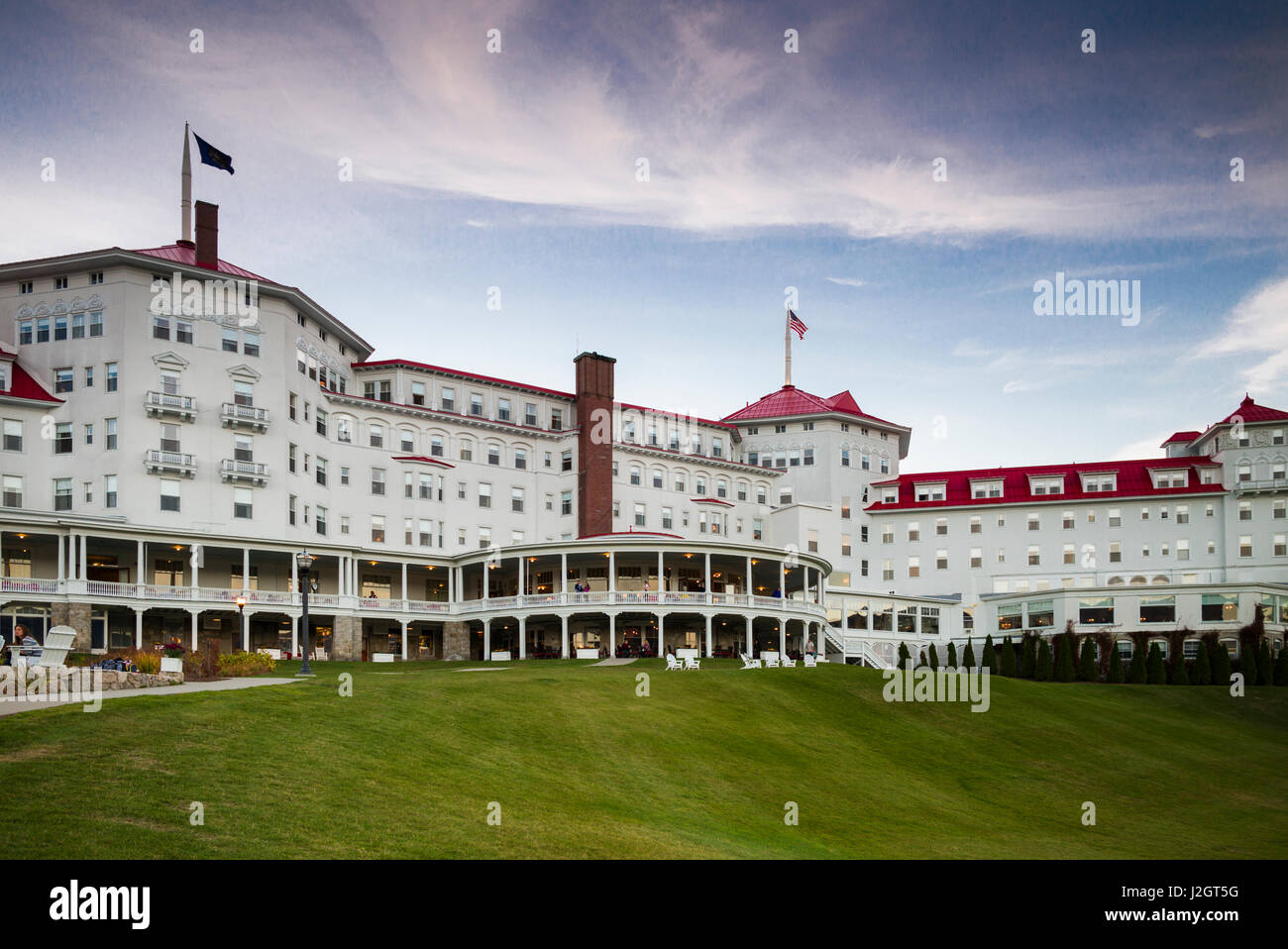 USA, New Hampshire, Montagnes Blanches, Bretton Woods, Mount Washington Hotel, extérieur Banque D'Images