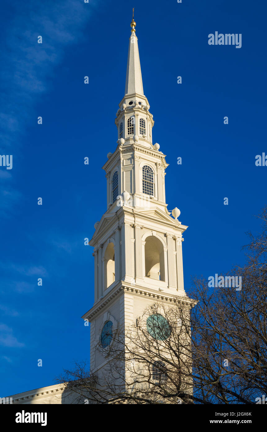 USA, Rhode Island, Providence, première église baptiste Banque D'Images