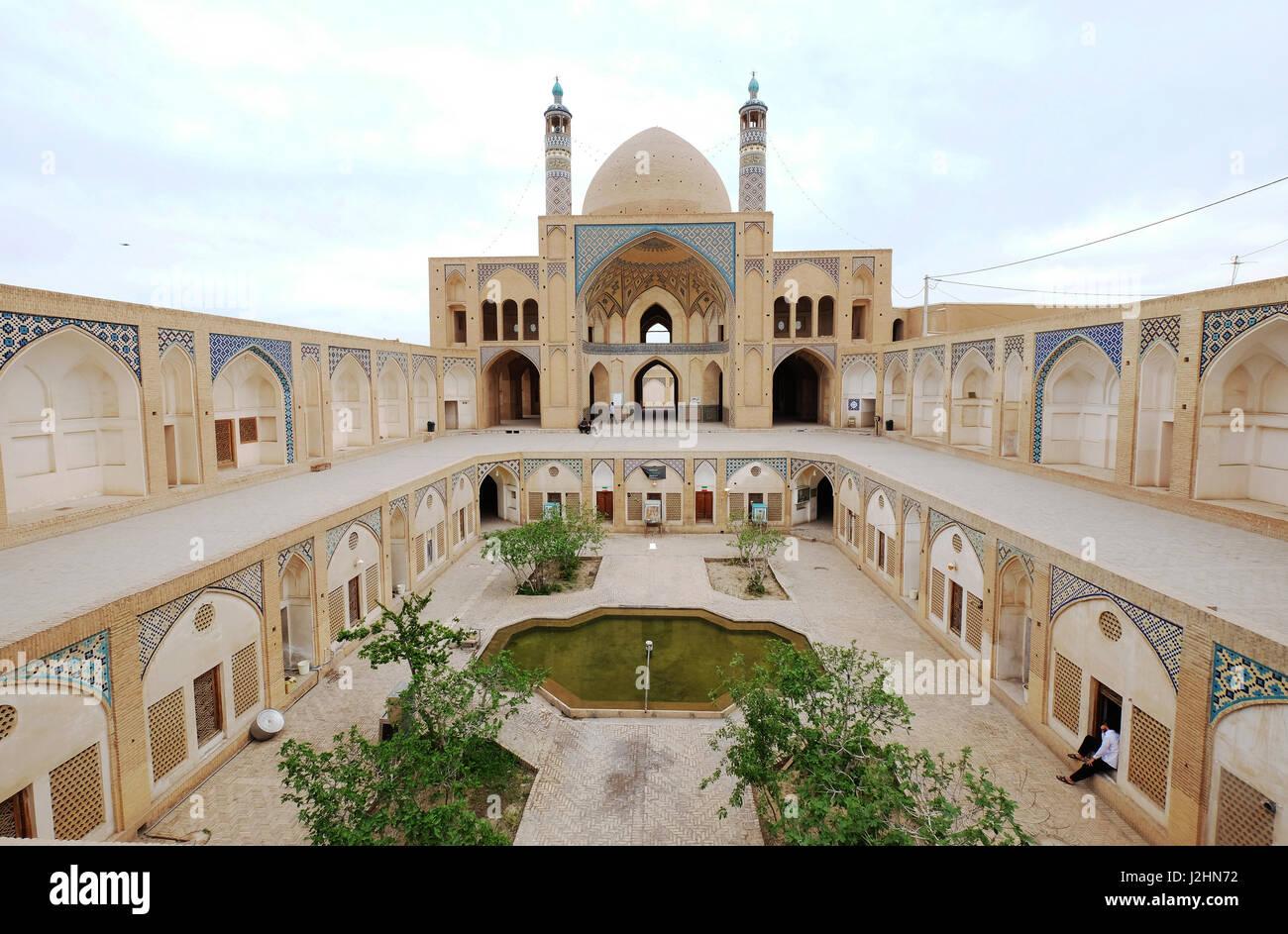 Mosquée Masjed-e Agha Bozorg,Kashan, Iran Photo Stock
