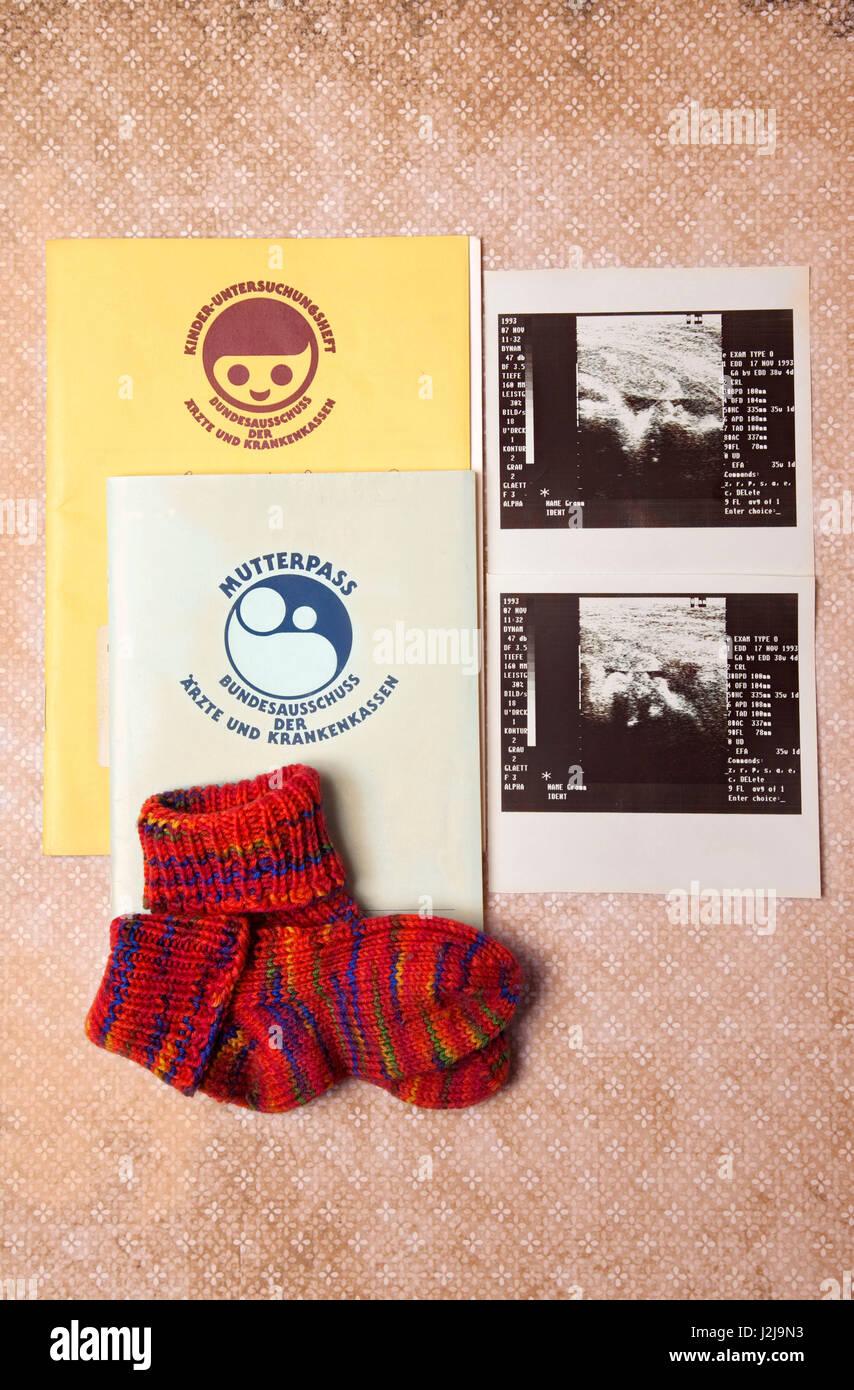 Journal de la maternité, la gestation, la médecine, la santé Photo Stock