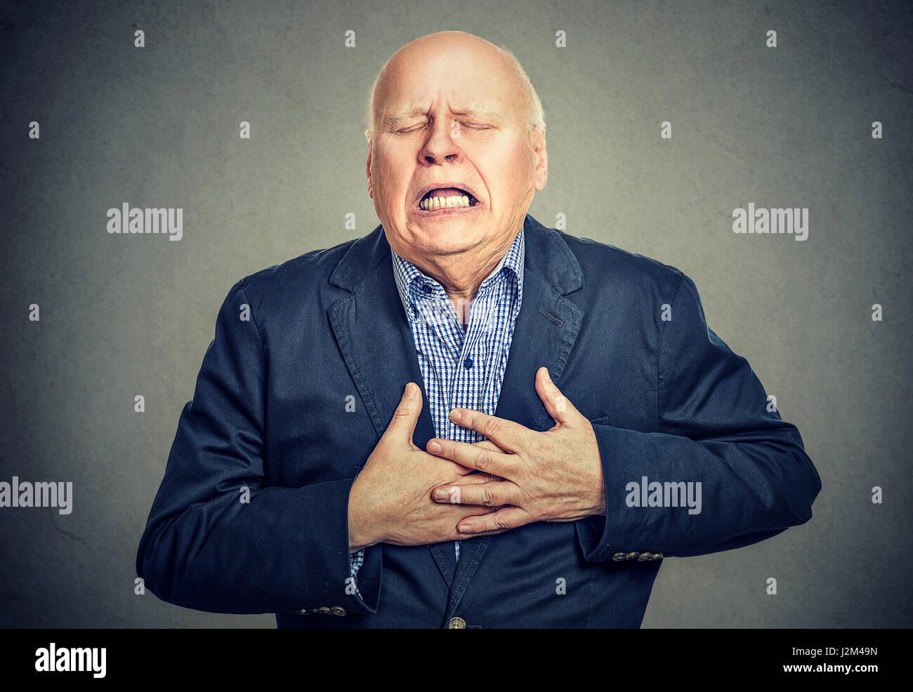 Man attaque cardiaque Photo Stock