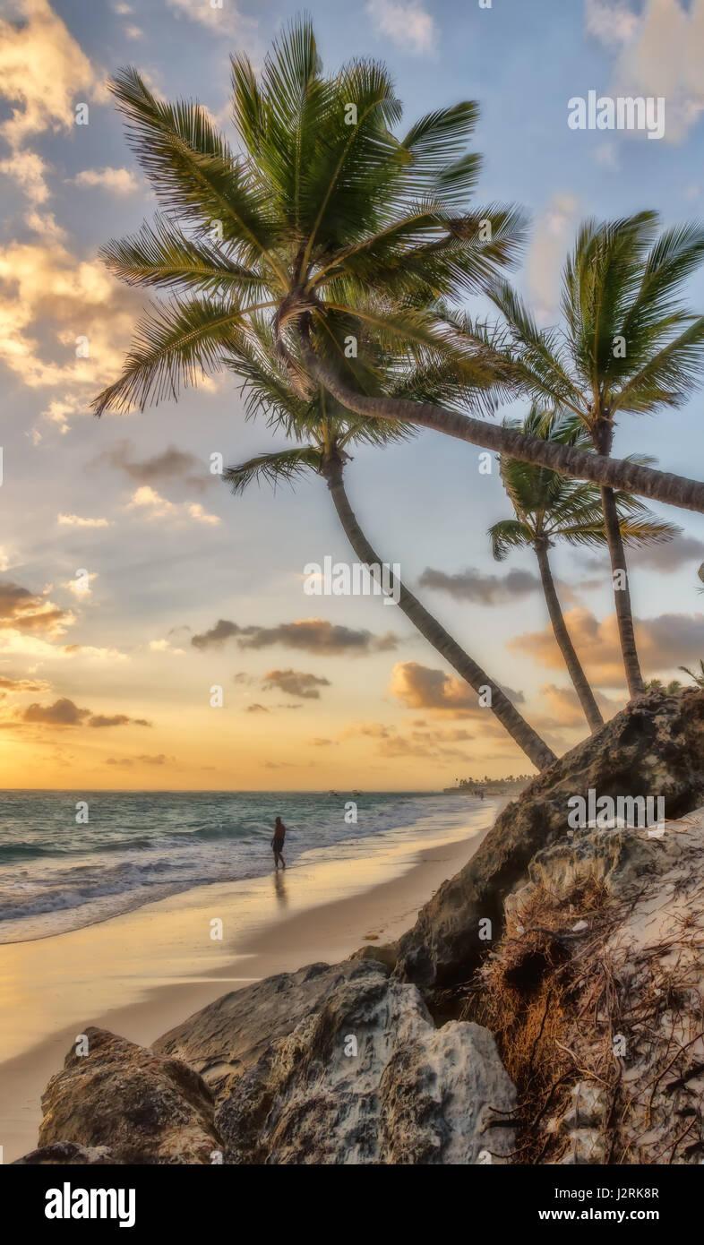Matin à Punta Cana. Photo Stock