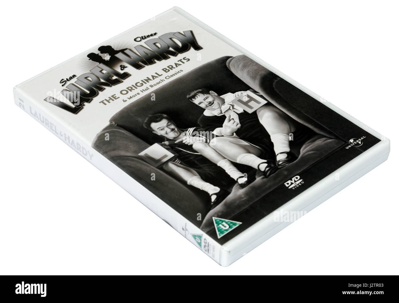 L'Original Brats: Laurel et Hardy un DVD de courts métrages Photo Stock