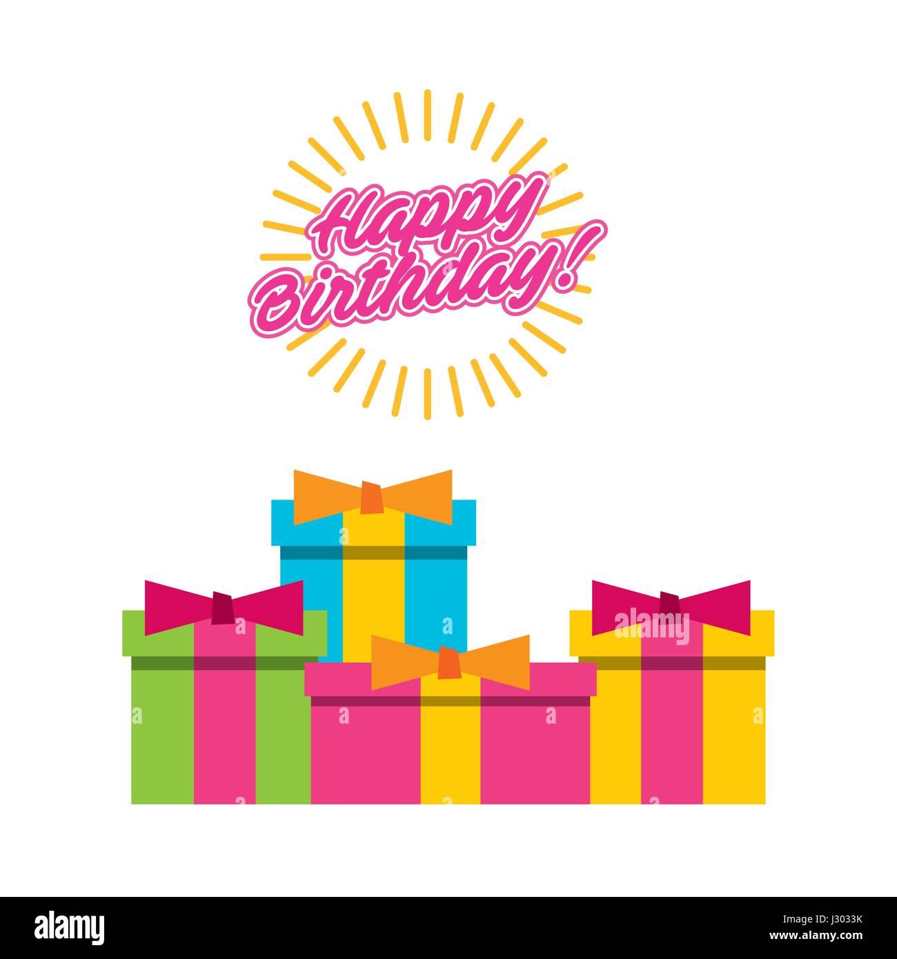 Joyeux Anniversaire A Vous De L Affiche De La Fete Vecteurs Et