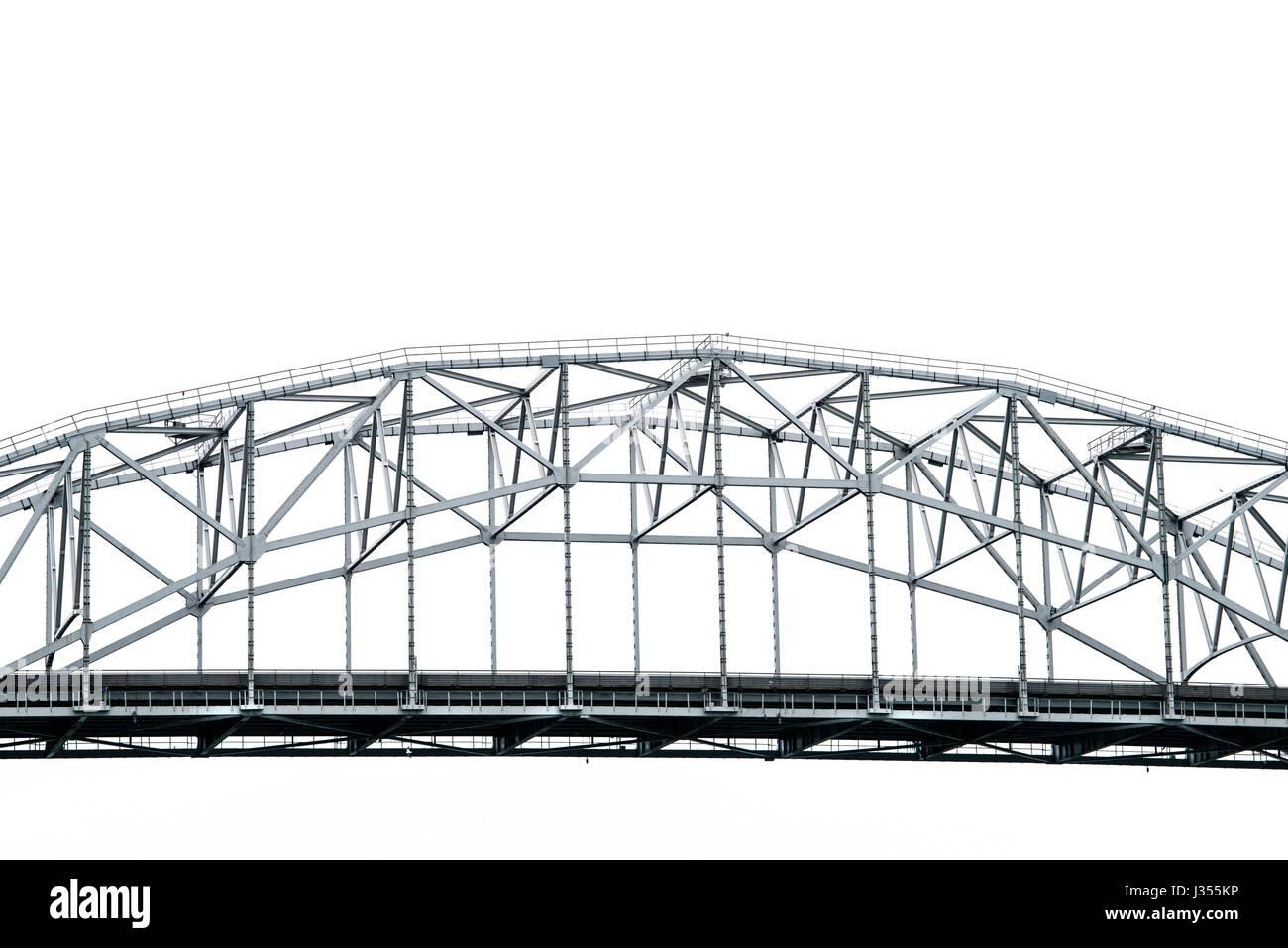 Section centrale de Corpus Christi Harbour Bridge reliant le centre-ville de North Beach. Photo Stock