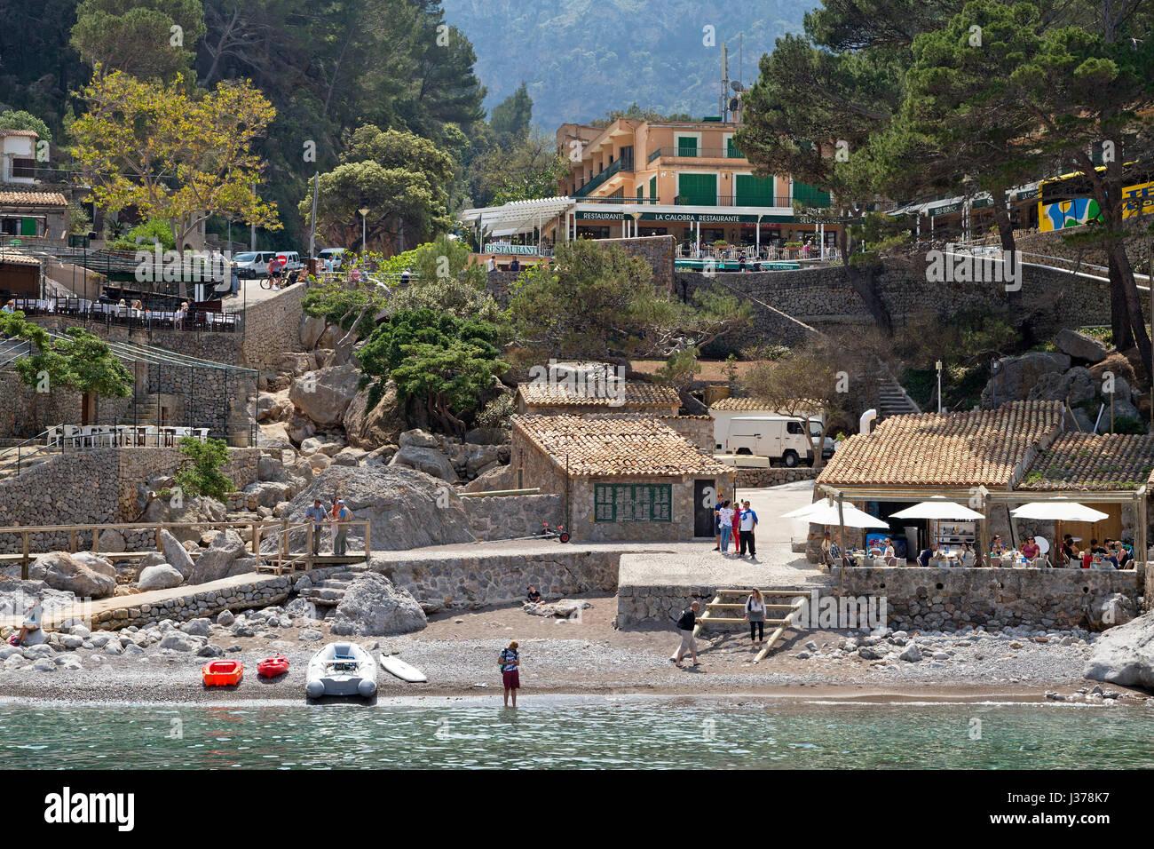 Sa Calobra, Serra de Tramuntana, à Majorque, Espagne Photo Stock