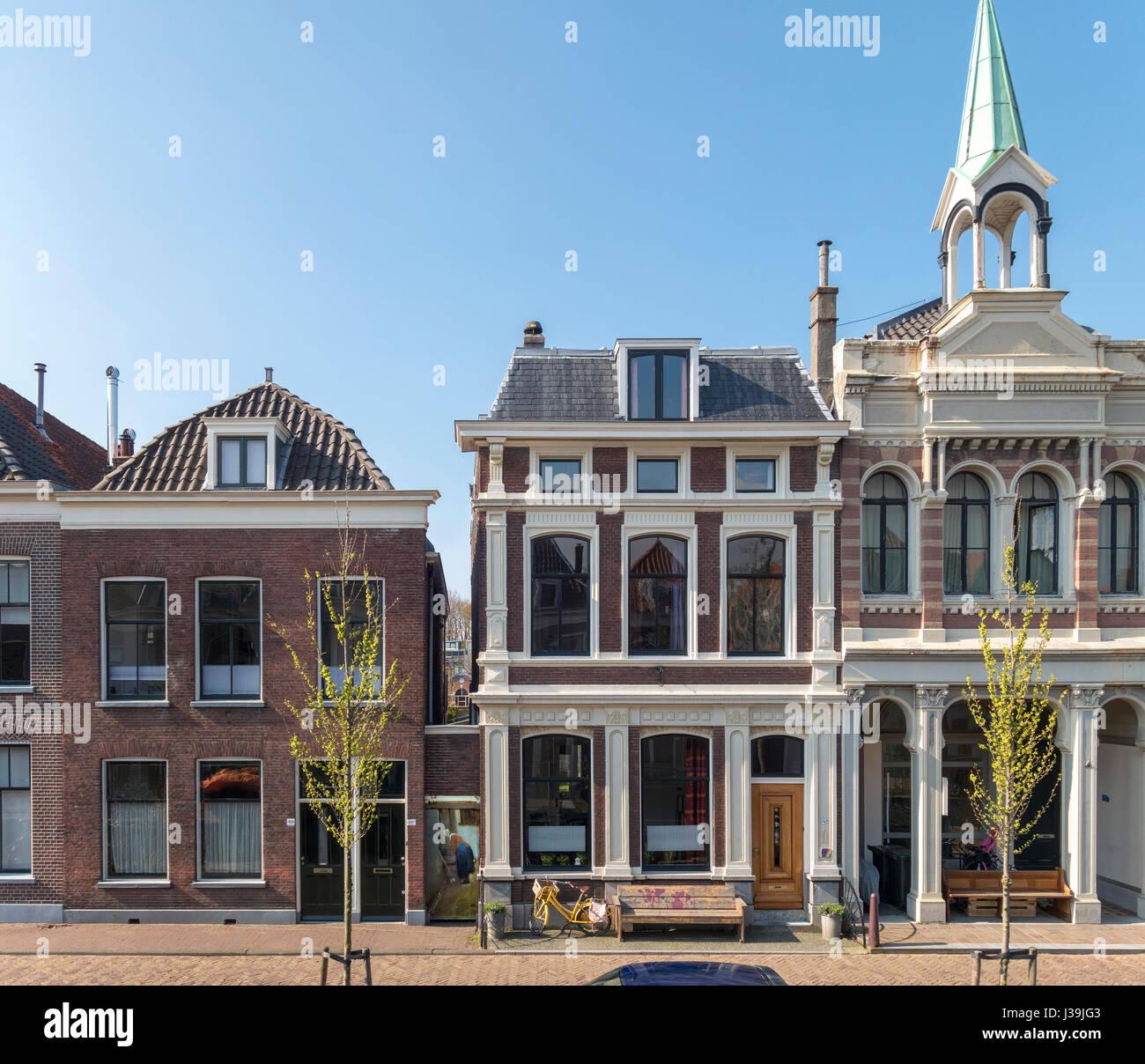 Vermeer de Delft La petite rue. Vlamingstraat 40 et 42 l'emplacement exact de la petite rue par Johannes Vermeer Photo Stock