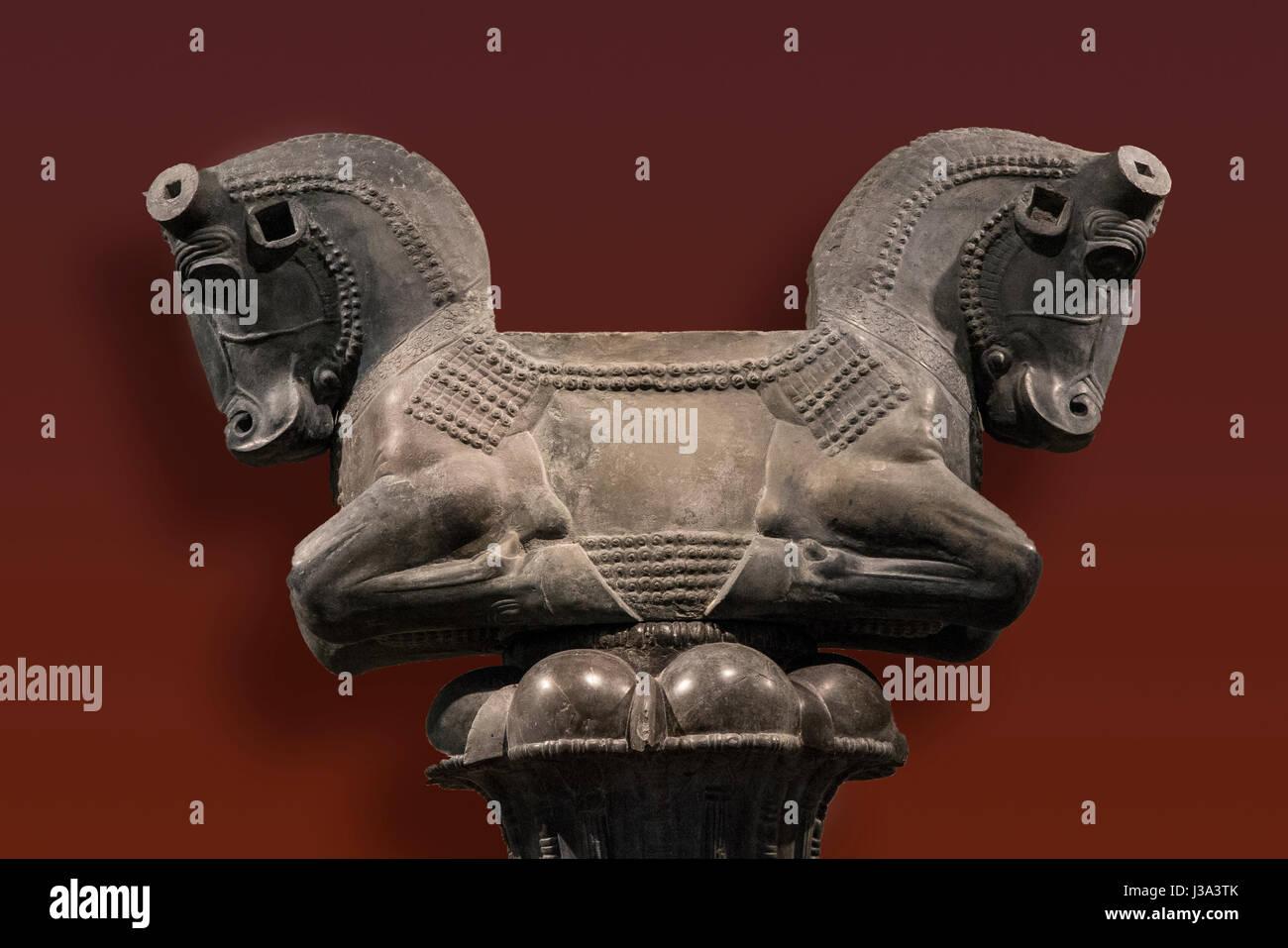 Bull tuteur de Persepolis Musée archéologique de l'Université de Chicago Photo Stock